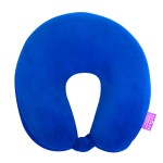 VIAGGI Microbead U Shape Travel Neck Pillow With Fleece - Royal Blue